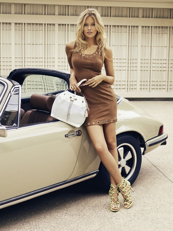 """ph70s: """" Lada Kravchenko for Guess Bags 2016 spring campaign """""""