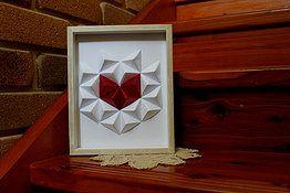 Handmade Paper Geometric Heart