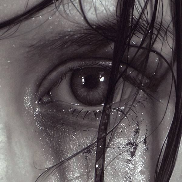 Eyes realistic drawing by Dirk Dzimirsky http://webneel.com/40-beautiful-and-realistic-pencil-drawings-human-eyes | Design Inspiration http://webneel.com | Follow us www.pinterest.com/webneel