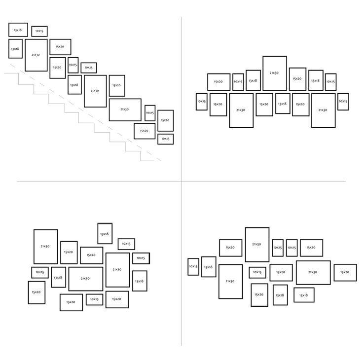 15er Bilderrahmen Collage Photolini Basic Collection Modern White MDF Inkl.