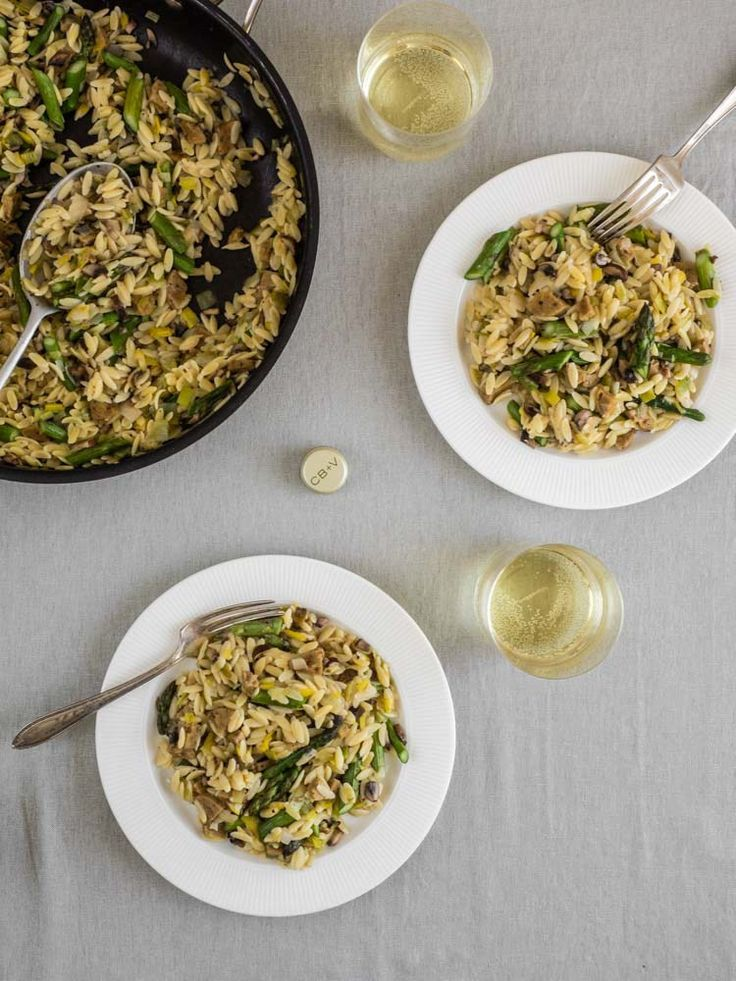 Asparagus Risotto With Orzo And Leeks Recipe Easy Vegetable Recipes Spring Recipes Vegetable Recipes Asparagus mushroom leek spring pasta