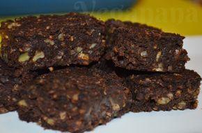 Brownie de Feijão Preto com Aveia e Nozes ~ Veganana