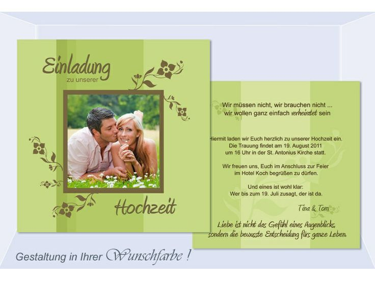 Eine Reihe Von Einladungskarten Hochzeit Charta Für Sie Zu Wählen