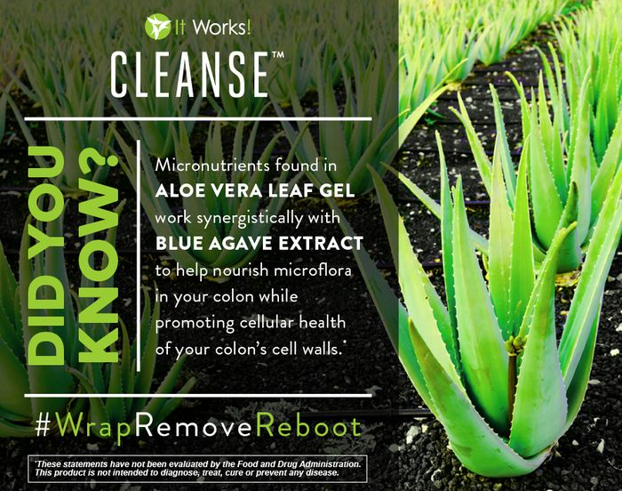 2 days. 4 bottles. Your body will thank you! (And so will your colon's cellular health!) Who have YOU shared the Cleanse with? #WrapRemoveReboot