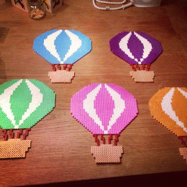 Hot air balloons hama perler beads by jonnafrausing