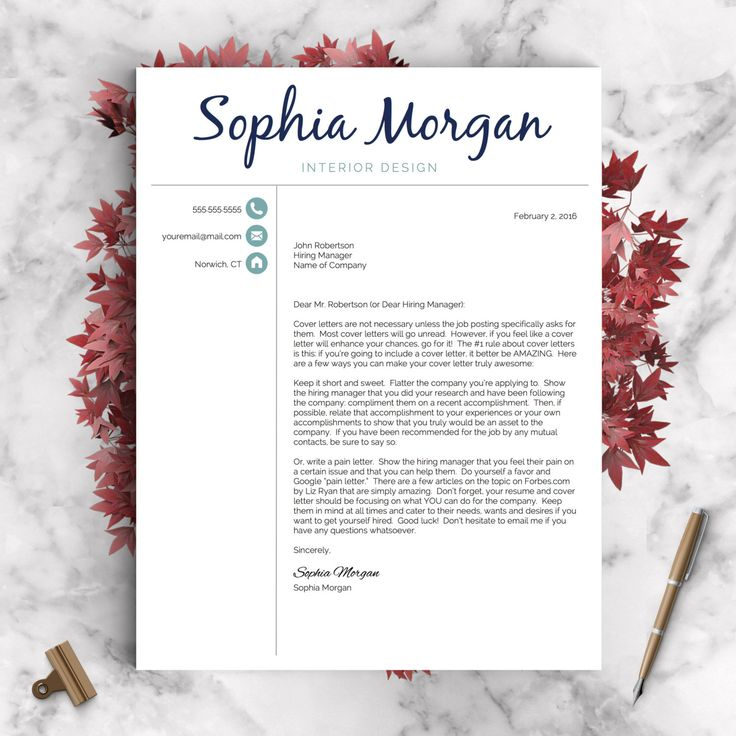 Creative Resume Template | Resume for Word and Pages | 1
