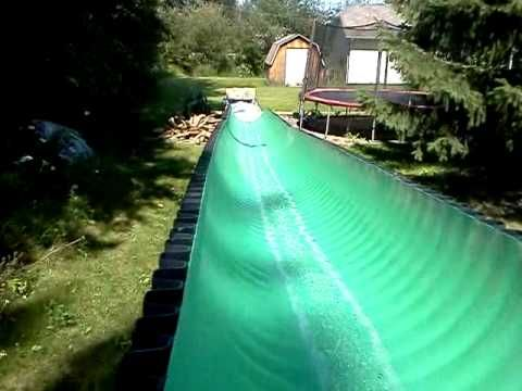 24 best images about diy water slide on pinterest - How to build a swimming pool slide ...