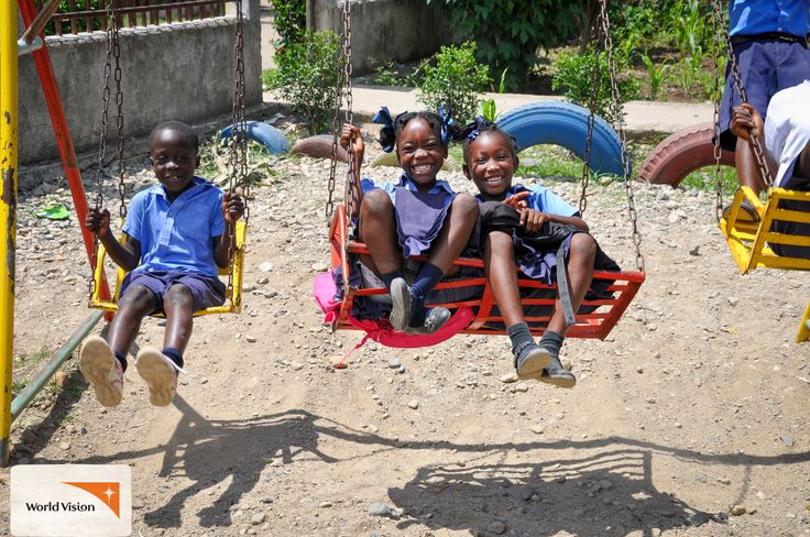 In #Haiti, these sponsored children had a day of play, #fun and #games, and even received some gifts too! Photo by Georges Maurice Saintilaire, #WorldVision