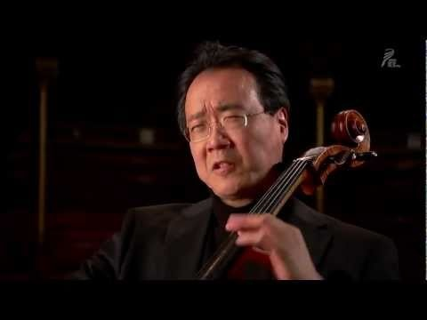 Yo-Yo Ma plays the Bach Cello Suite No. 1 for the people of Japan on March 24, 2011 in Sanders Theatre at Harvard University in Cambridge, Massachusetts.