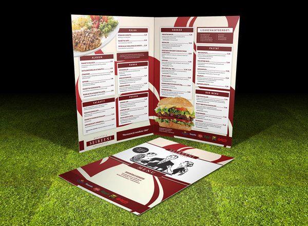 Seireeni Menu 2013 by Ville Palmu, via Behance #menu #restaurant