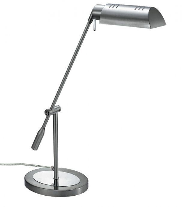 lampa de birou AMIR 4219 argintie, cu inaltime ajustabila si abajur orientabil, marca RabaLux