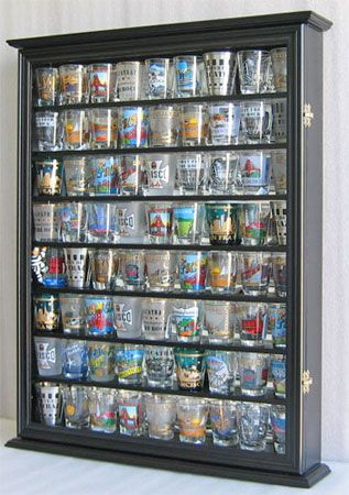 72 Shot Glass Display Case Holder Cabinet