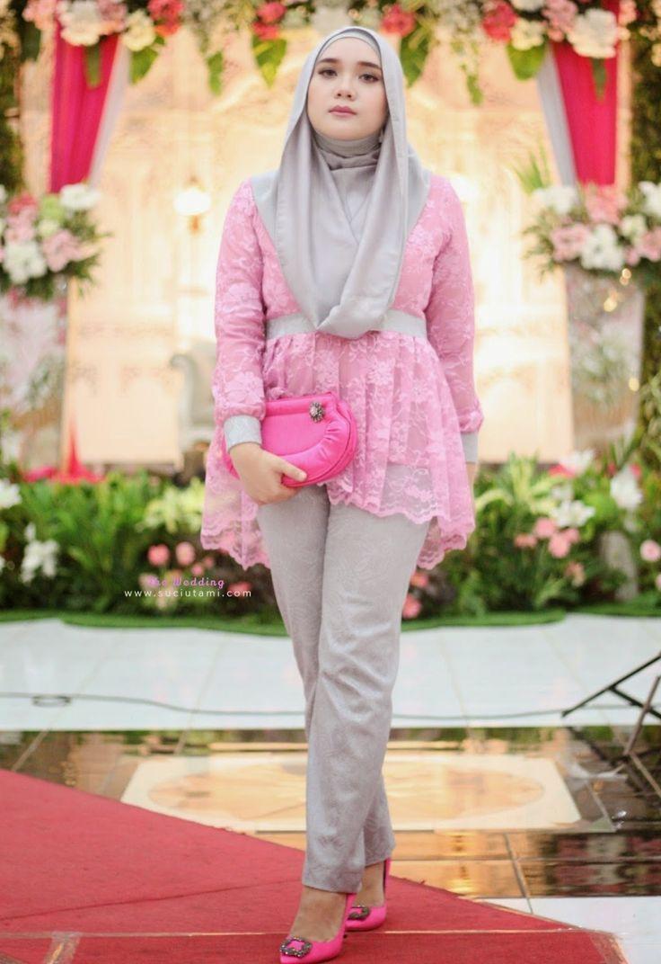 kombinasi kebaya muslim dengan celana