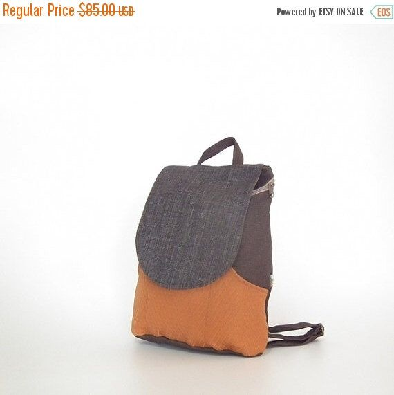 Christmas Gifts Canvas Laptop backpack - Black & Orange, backpacks for girls and women, canvas backpack, cool backpacks, school backpacks, g by Badimyon on Etsy https://www.etsy.com/listing/203693357/christmas-gifts-canvas-laptop-backpack
