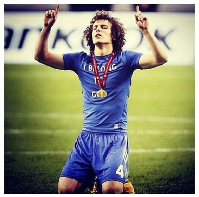 David Luiz, Europa League winner 2013 with Chelsea.