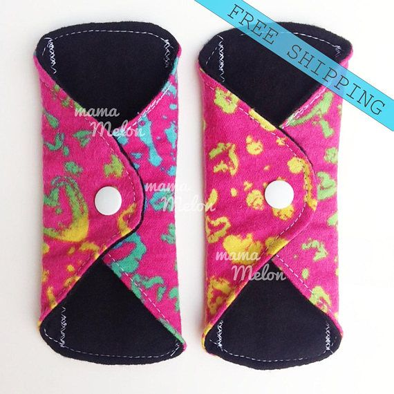 2x 7 Reusable Cloth Pantyliners Panty Liners Flannel