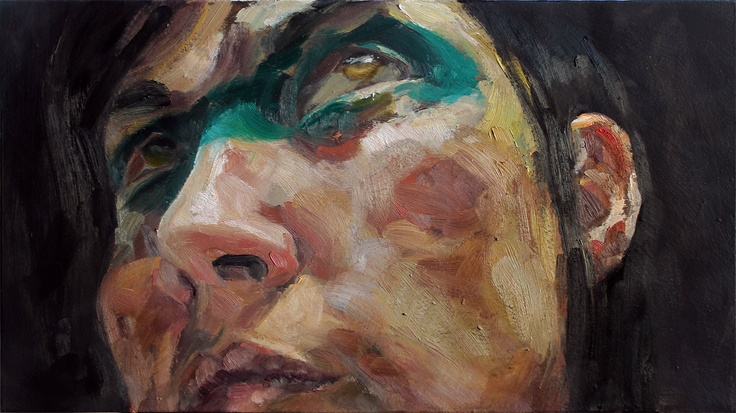 """""""Zugzwang II,"""" Oil on Panel, 8x14in. by Cara Thayer and Louie Van Patten (via Etsy)"""