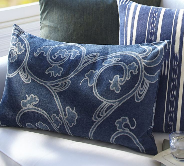 Blue Throw Pillows Pottery Barn : 17 Best images about Indigo by Pottery Barn Australia on Pinterest Pillow covers, Lumbar ...