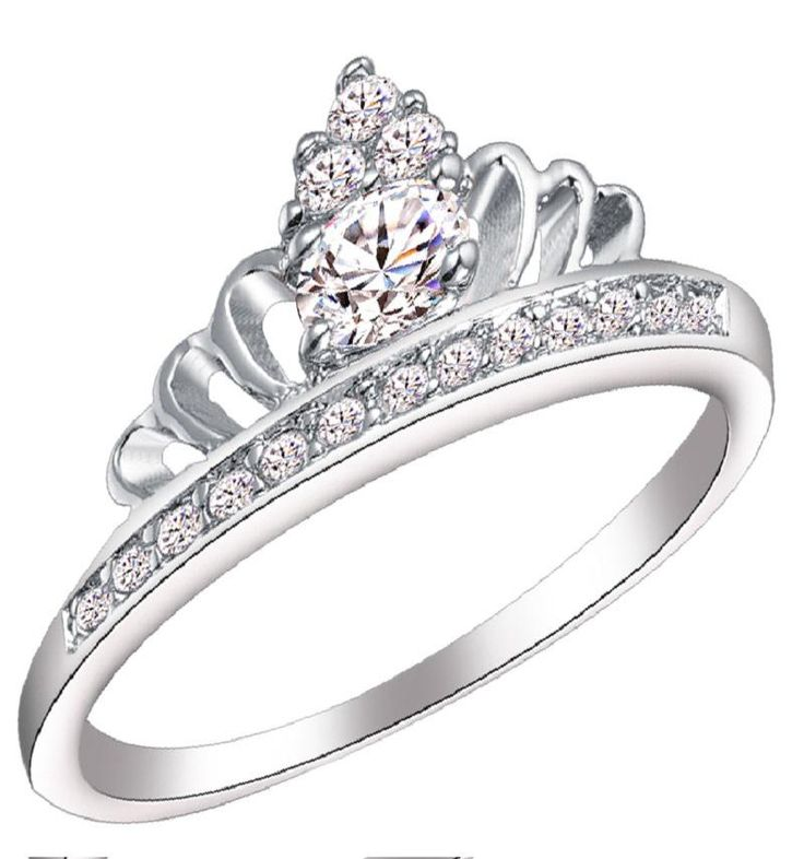 rings on pinterest white gold wedding ring and princess crown rings