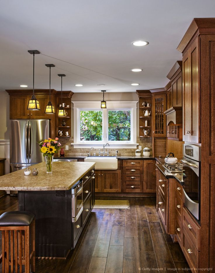 Image detail for -Hardwood floors and cabinets in kitchen
