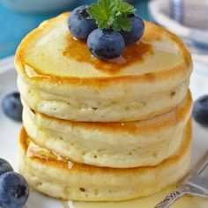 This classic buttermilk pancakes recipe makes light fluffy pancakes.