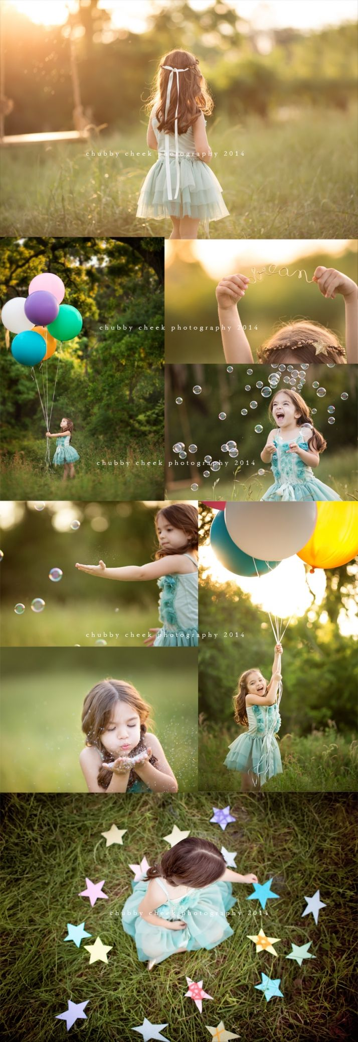 simplicity and beauty of balloons, bubbles, glitter and stars