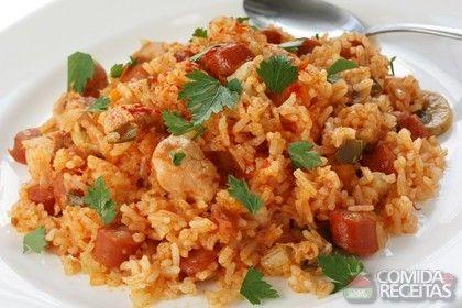 Receita de Risoto simples de frango - Comida e Receitas