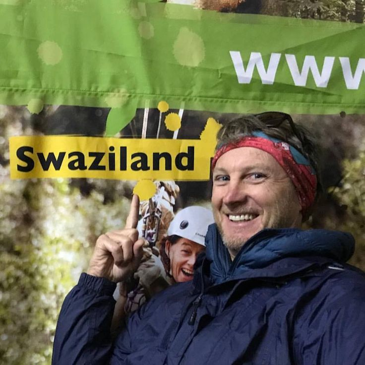Andre from SATIB having fun before they go on their Canopy Tour with Cape Canopy Tour. Pic by Darron Raw from Swazi Trails - SA adventure summit