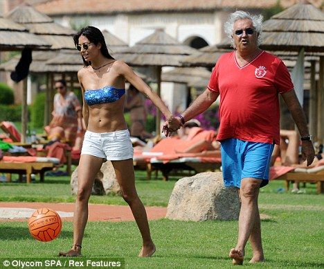 Flavio Briatore's wife Elisabetta shows off her ball skills