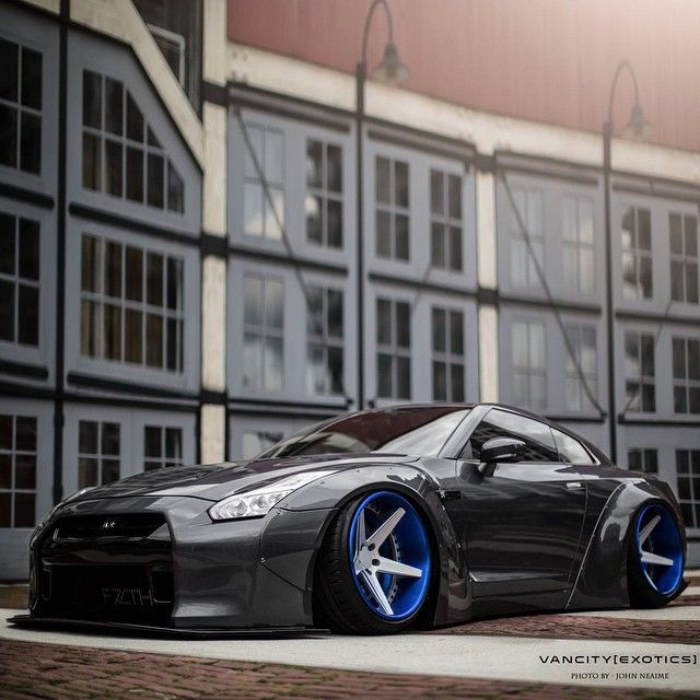 Slammed Hard GTR • Photo by @VancityExotics  #CarLifestyle