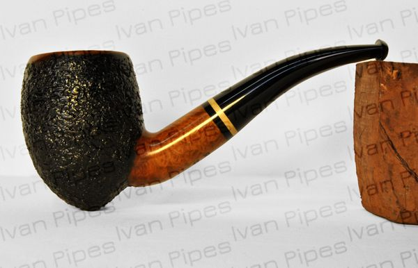 Rusticated briar pipe