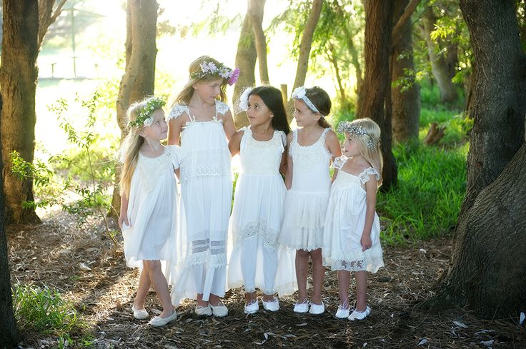 miss match flowergirls by Tea Princess http://www.teaprincess.com.au/collections/ivory-wildflower-collection