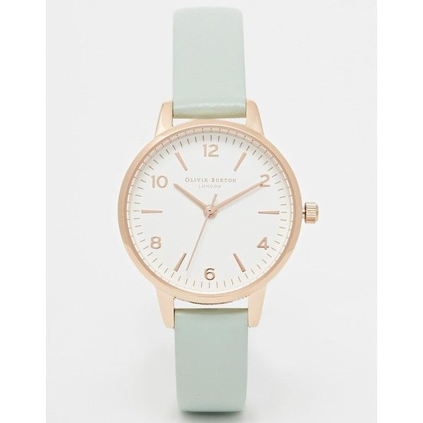 Olivia Burton Exclusive To ASOS Midi White Face Mint Watch (143 CAD) ❤ liked on Polyvore