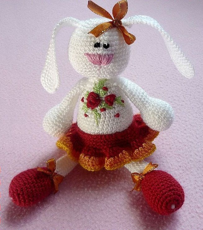 36 best easter basket gift images on pinterest basket gift easter gift easter bunny bunny crochet crochet toy rattle baby rabbit negle Choice Image