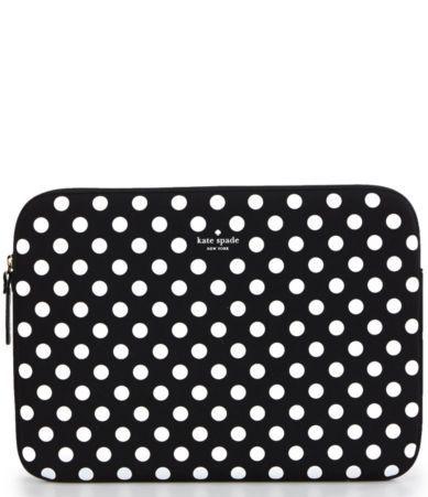 kate spade new york Dotted Neoprene Laptop Sleeve #Dillards