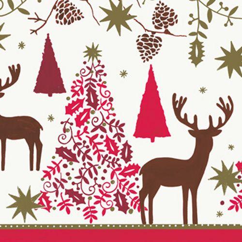 Vánoční ubrousky http://www.mojeparty.cz/papirove-ubrousky/ubrousky-papirove-deers-trees-20ks