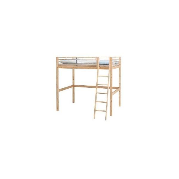 IKEA | Beds | Bunk & loft beds | FJELLDAL | Loft bed frame ($340) found on Polyvore