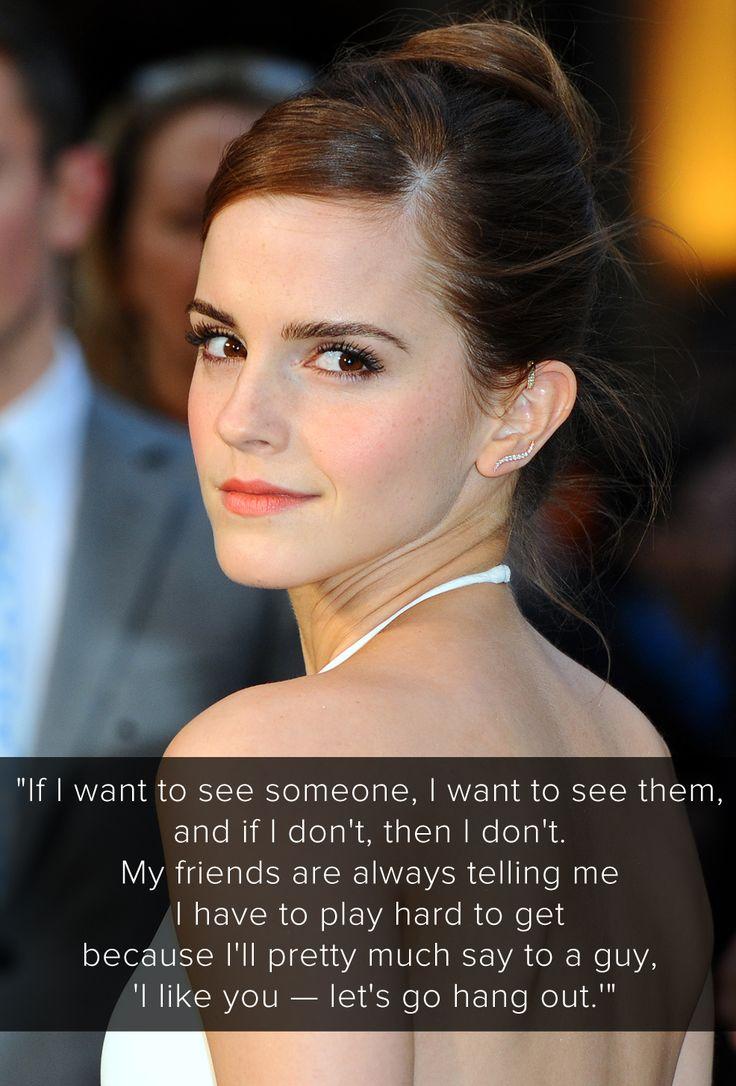 emma watson 2015 dating quote