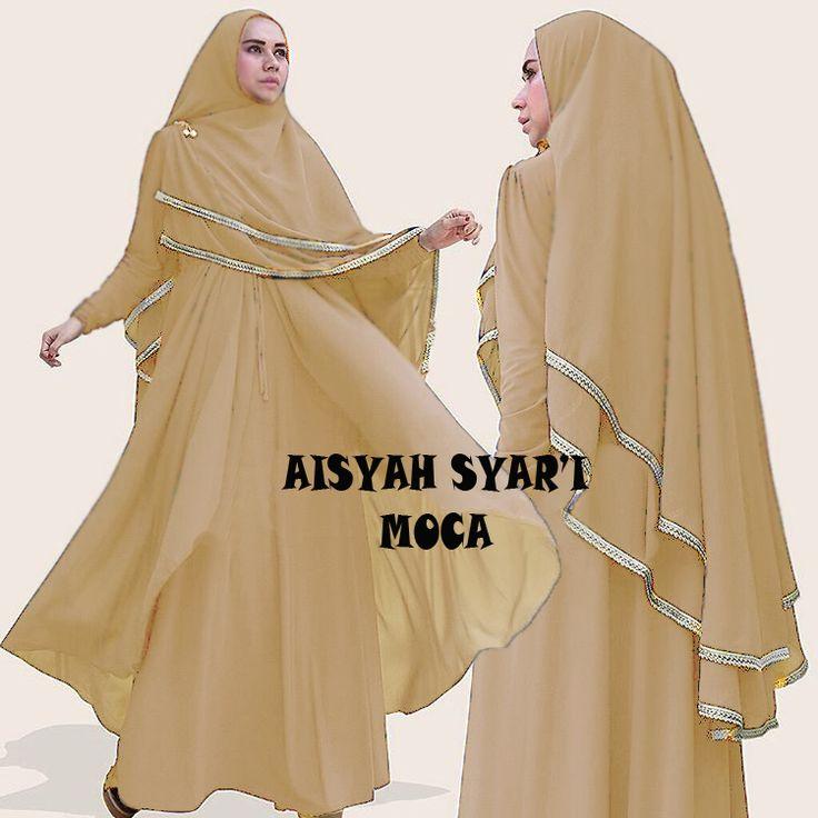 Gamis Syar'i Modern AISYAH MOCCA - http://warongmuslim.com/gamis-syari/gamis-syari-modern-aisyah-mocca/