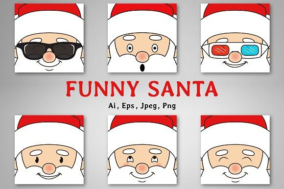 Funny Santa - Cards