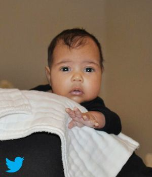 THE BABY IS FINALLY SEEN! First Photo of Kim Kardashian & Kanye West's Baby North West - Finally Revealed