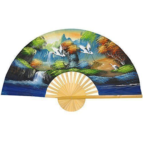 wall décor is mystical, captivating and beautiful and makes any room in your  home warm and inviting.  You can get all  kinds of inspiration by these beautiful pieces of Asian home décor.   Especially when you combine Japanese canvas art,    Oriental Furniture Flying Cranes Fan - 60
