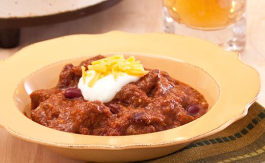 Beef and Bean Chili. Make in the oven or slow cooker!