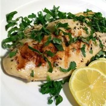Grilled Fish Steaks: Turning People, Olives Oil, Olive Oils, Savory Halibut, Perfect Dishes, Dr. Who, Halibut Filet, Basil, Lemon Juice
