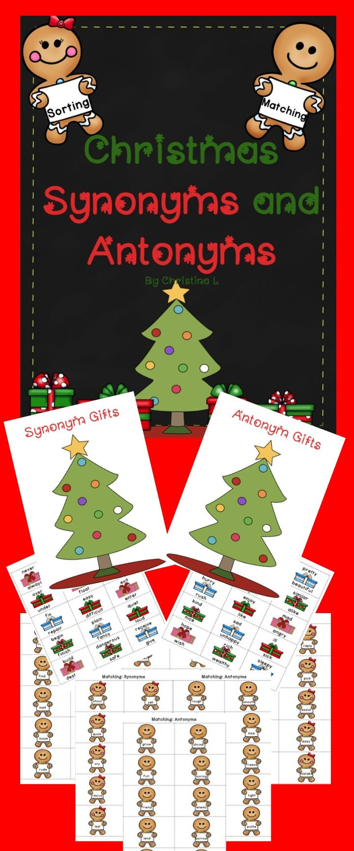 Christmas Synonyms and Antonyms Game | Christmas & winter ...