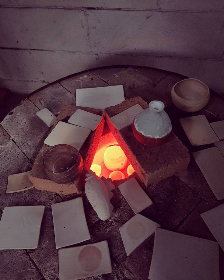 Firing the raku kiln at UPH Karawaci.