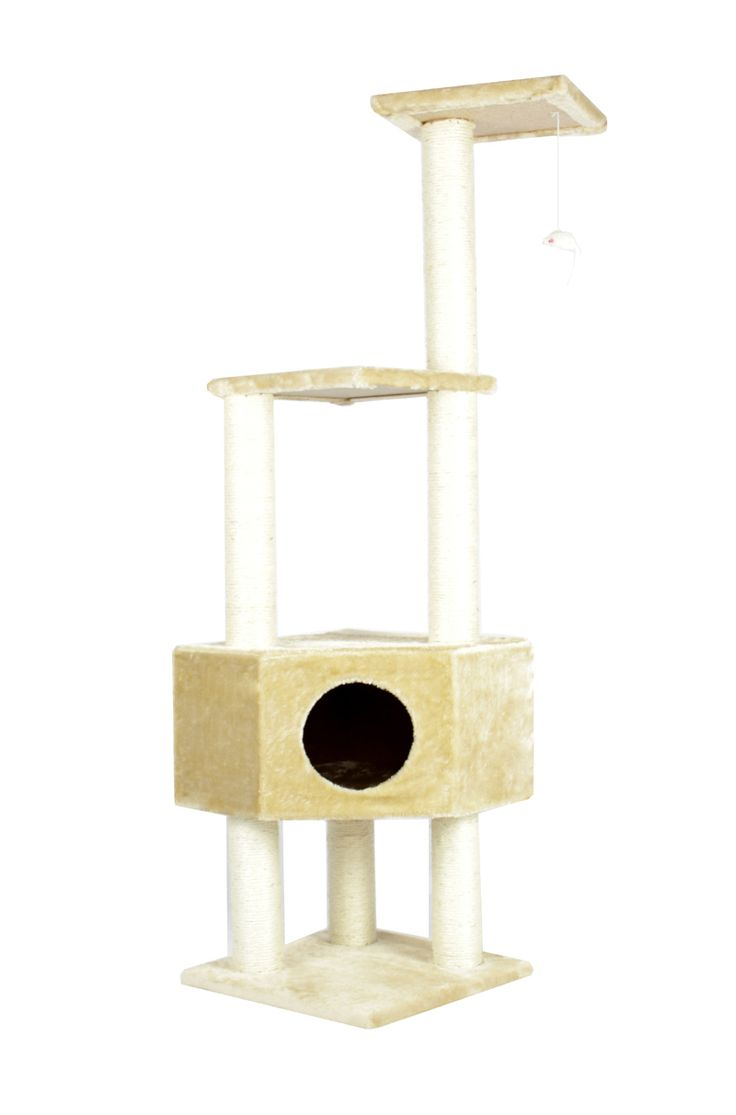 "52″ CAT TREE CONDO FURNITURE SCRATCHPOST PET HOUSE ""Colors"" http://house4pets.com/product/52-cat-tree-condo-furniture-scratchpost-pet-house/"