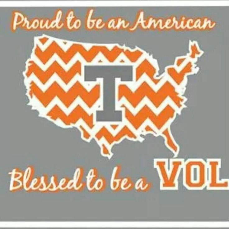 Yes, I am! I said it's great to be a Tennessee Vol...