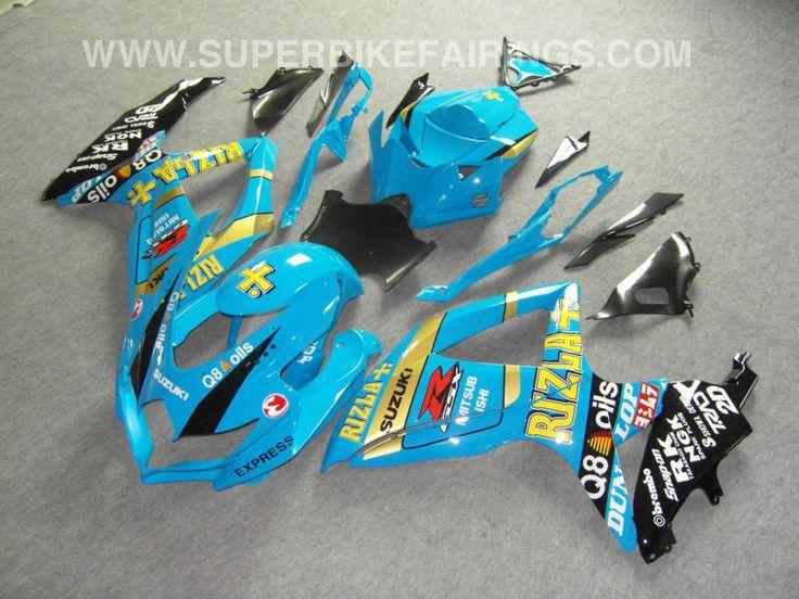 2008-2010 GSXR-600 750 Blue Rizla Fairings