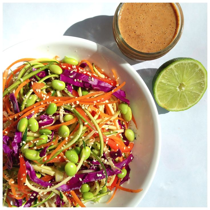 Raw Pad Thai & Ginger Lime Almond Butter Dressing.